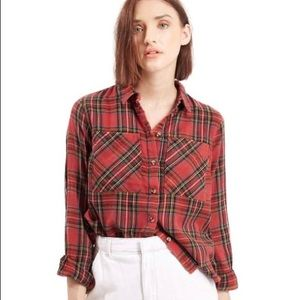 Top shop plaid shirt